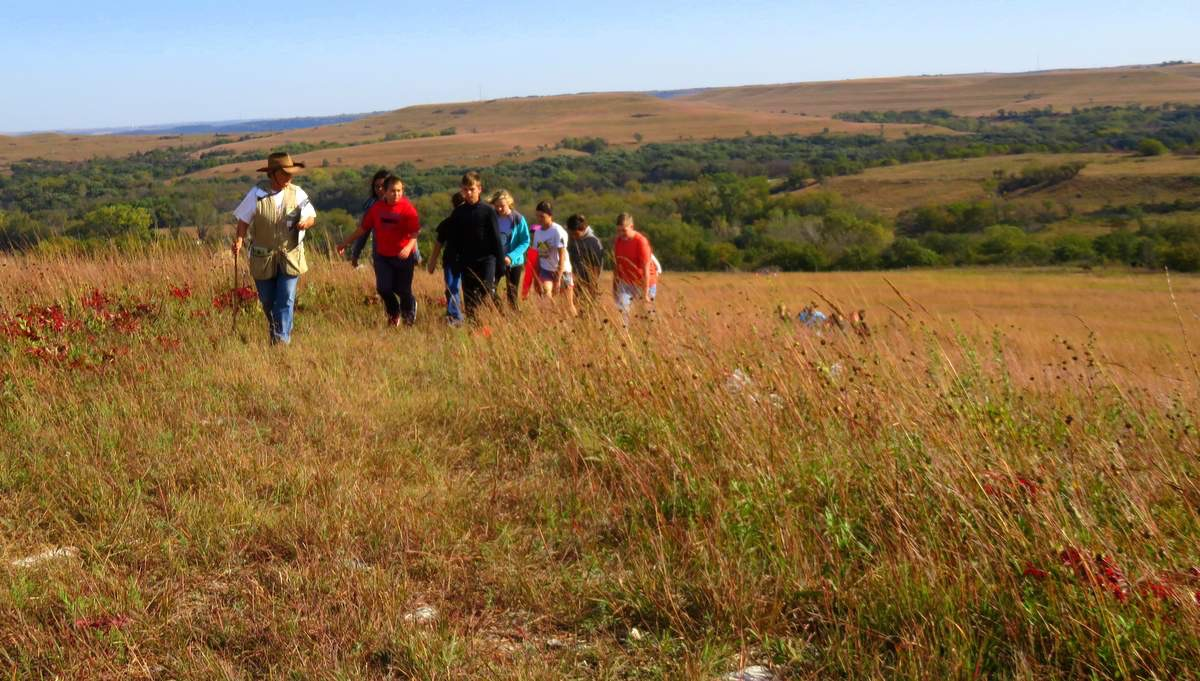 Autumn hike at Konza