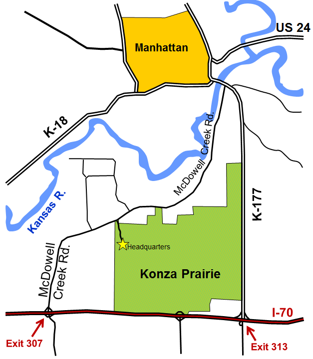 Map to Konza Prairie